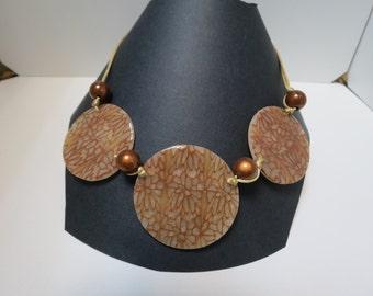 Necklace 3 beige tablets