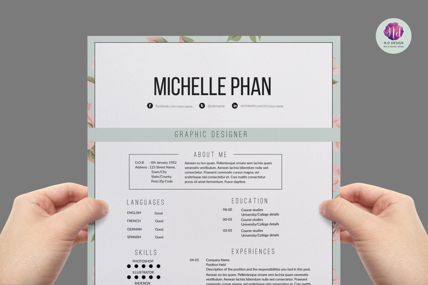 Sample Cover Letter For English     Portfolio   Cover Letter Templates