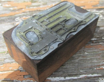 Vintage 1950s Print Block For Engineering Book