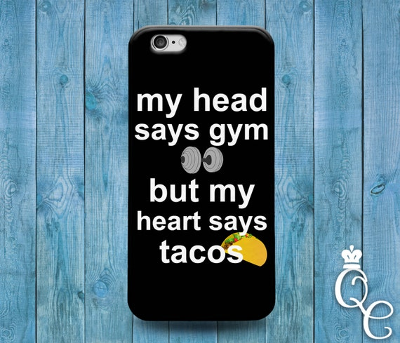 iPhone 4 4s 5 5s 5c 6 6s 7 SE Plus iPod Touch 4th 5th 6th Gen Custom Phone Case Cute Fitness Food Taco Quote Cool Fun Funny Gym Heart Cover