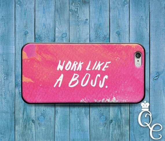 iPhone 4 4s 5 5s 5c SE 6 6s 7 plus iPod Touch 4th 5th 6th Generation Cool Pink Girly Girl Phone Cover Fun Custom Work Like A Boss Cute Case