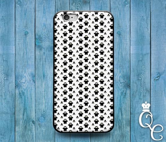 iPhone 4 4s 5 5s 5c SE 6 6s 7 plus iPod Touch 4th 5th 6th Generation Cute Black Ninja Poop Emoji Funny Black White Custom Phone Cover Case