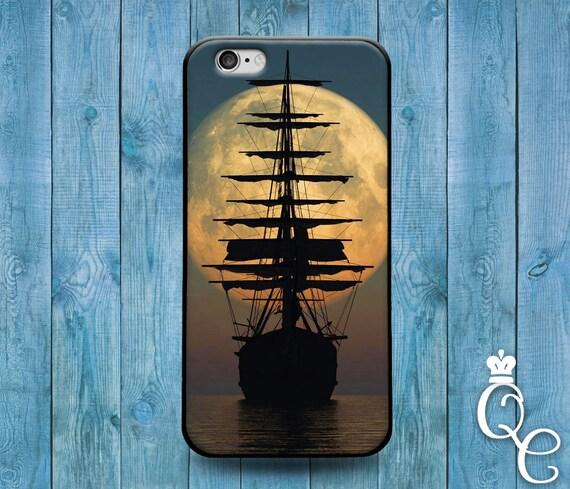 iPhone 4 4s 5 5s 5c SE 6 6s 7 plus iPod Touch 4th 5th 6th Gen Beautiful Pirate Ship Moon Naval Nautical Boat Phone Cover Cute Custom Case