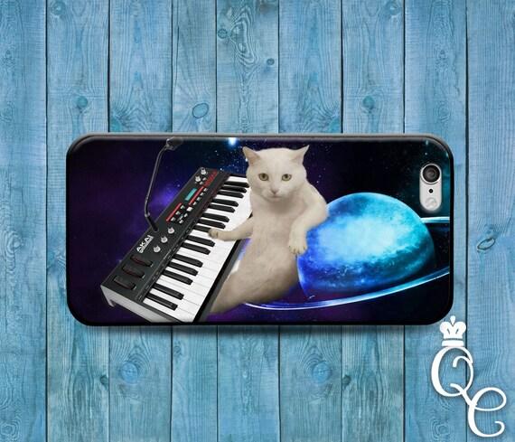 iPhone 4 4s 5 5s 5c SE 6 6s 7 plus iPod Touch 4th 5th 6th Gen Custom Funny Cat Piano Keyboard Space Galaxy Nebula Phone Case Custom Cover