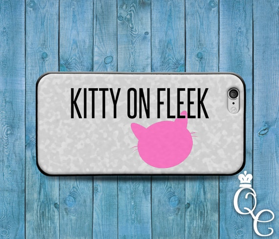 iPhone 4 4s 5 5s 5c SE 6 6s 7 plus iPod Touch 4th 5th 6th Generation Cover Funny Girly Fleek Quote Kitty Cat Pink Girl Phone Case Cute Cool