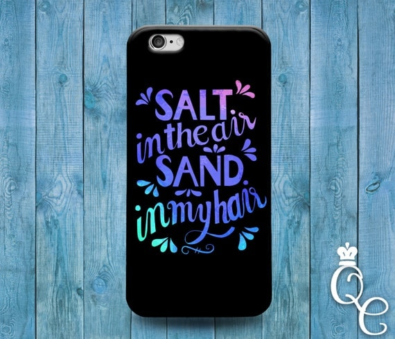 iPhone 4 4s 5 5s 5c SE 6 6s 7 plus iPod Touch 4th 5th 6th Generation Cool Beach Summer Hair Quote Phone Cover + Cute Black Blue Purple Case