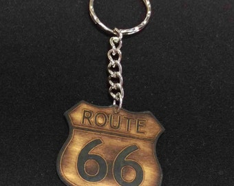 Route 66 Road Sign Keychain