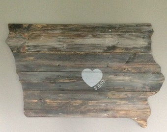 Custom Pallet Iowa Sign - Anniversary Sign