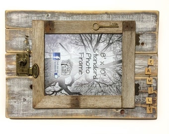 """Rustic """"Family"""" 8""""x10"""" Hinged Frame"""