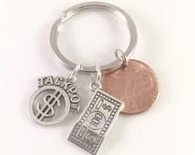 Lottery keychain, Money keychain, Jackpot Keychain, Lottery scratcher Keychain, Lottery ticket charm, Partners in Crime