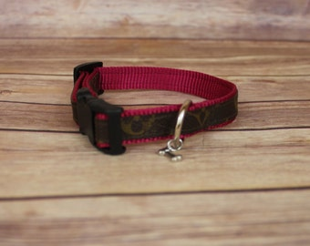 LOUIS VUITTON 100% Authentic Monogram Upcycled/Repurposed Dog Collar ONLY! size mini/xs/kitty