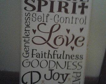 Fruit of the spirit sign