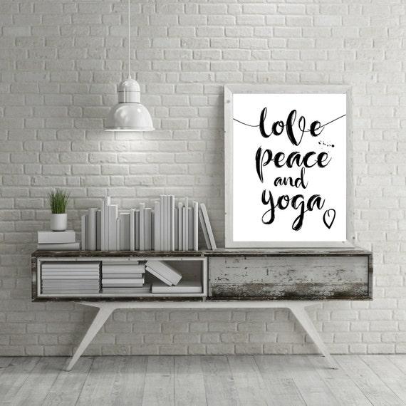 Yoga Studio Wall Decor : Yoga print poster wall art gifts by ojudesign