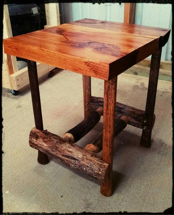 Axe handle end table