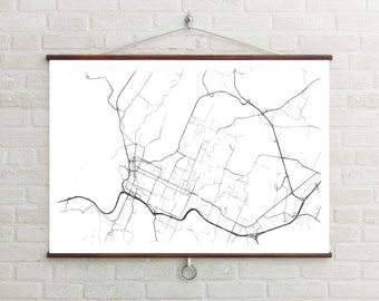 Map of Chattanooga, Chattanooga, Chattanooga art, Chattanooga map, Chattanooga print, Chattanooga decor, Chattanooga gift, Wedding Gift, Map