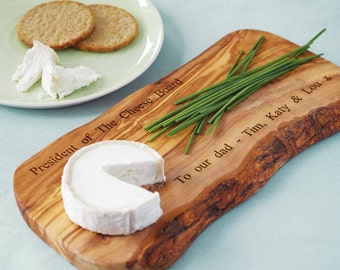Personalized Olive Wood Cheese Board