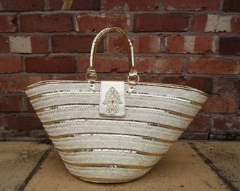 Koffa Gold straw bag (large)
