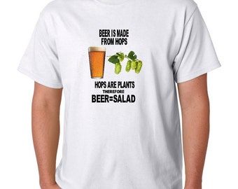 Beer Equals Salad T Shirt with FREE Postage to UK