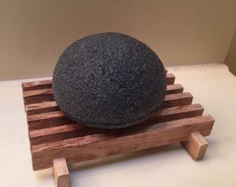 Konjac Facial Sponge | Bamboo Charcoal Face Wash Softening Scrub | Eco-Friendly | Biodegradable