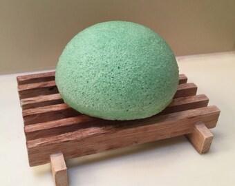 Konjac Facial Sponge | Green Tea Face Wash Softening Scrub | Eco-Friendly | Biodegradable