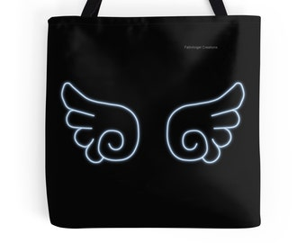 Chibi Angel Wings Tote Bag, 3 Sizes Available