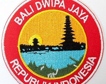Bali Dwipa Jaya Indonesia Embroidered Patch Travel Badge Applique