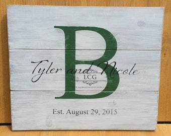 Personalized Wedding Sign, Anniversary Gift, Engagement Gift, Wedding Gift, Bridal Shower Gift, Customized Wedding Gift, Wooden Name Sign