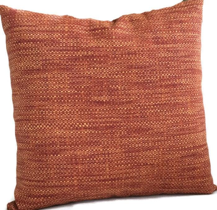 Burnt Orange Outdoor Throw Pillows : Indoor Outdoor Pillow Cover Rust Red Burnt Orange Throw Pillow