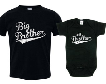 Big brother little brother shirts matching sibling shirts, Big Brothers Baseball shirt, BBSib