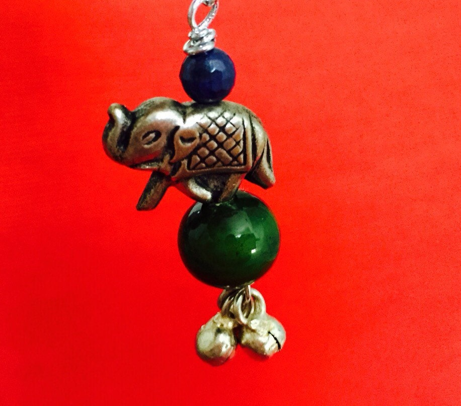 indian elephant lambada with luck charms by