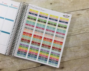 "Pastel ""To Call"" Headers for your Vertical Life Planner"