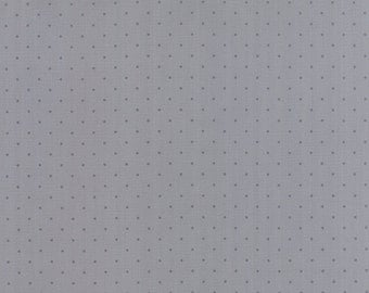 1/2 yd Modern Background Ink Pin Dot by Zen Chic for Moda Fabrics 1588 27 Steel Grey
