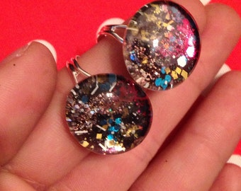 Galaxy sparkle adjustable ring