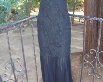 Vintage couture Calvin Klein gown