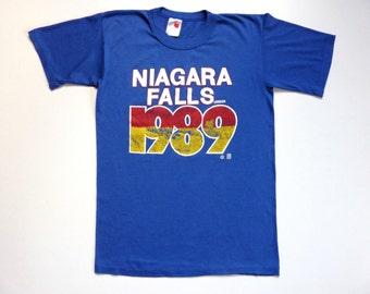 Vintage 80's Tee-Shirt Canada Niagara Falls