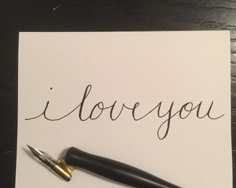I love you calligraphy card