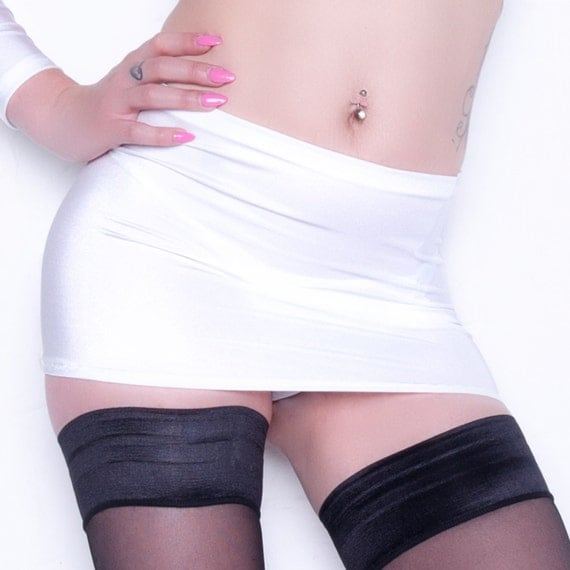 Sexy White Mini Skirt 33