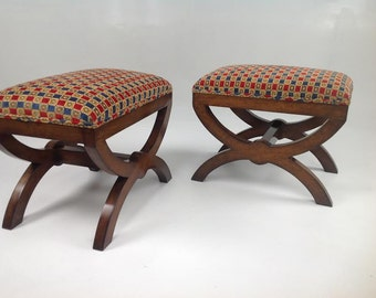 Country french ottomans       FREE SHIPPING