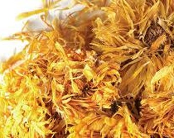 Whole Calendula Flowers Dried For Soaps, Cosmetics, Skincare, Crafts