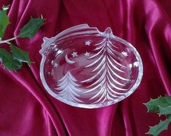 Crystal Christmas Tree with Stars/Small Dish/Mikasa