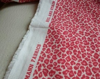 P Kaufman Animal Print/Mini Leopard/Coral