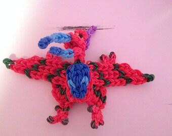 Rainbow Loom Dinosaur - Red Pterodactyl
