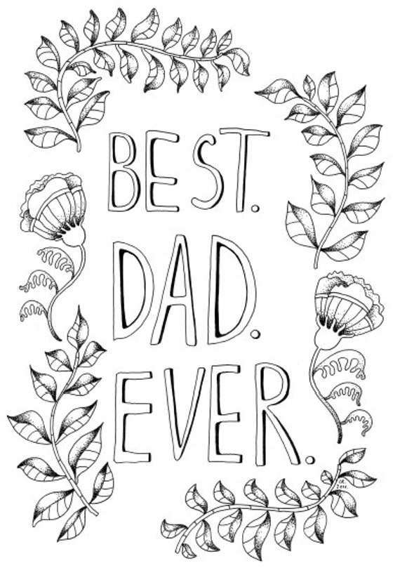 Father 39 s day printable coloring page best dad ever for Best dad coloring pages