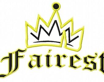 Disney Descendants, Evie's Icon with Fairest,Applique Embroidery Design, 4x4, 5x7, 6x10 Hoops Sizes, Instant Download