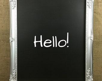 SILVER ORNATE FRAMED Chalkboard - Framed Blackboard / Message Board / Wedding Black board / Chalk Board / Memo Board / Wedding Sign