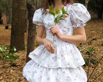 Child's upcycled sheet dress