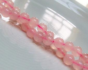 Rose Quartz Rounds 8mm - Genuine Gemstones  - 20 Beads Loose Gemstones,