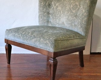 Gorgeous Elegant Hollywood Regency Slipper Lounge Chair Refinished & Reupholstered