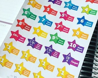 Weight loss award planner stickers UK stones great for slimmingworld weightwatchers etc