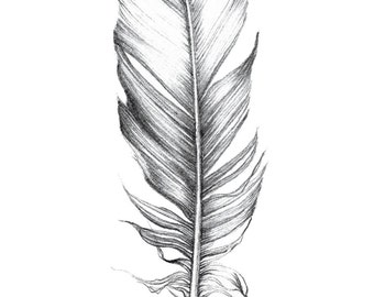 A6 Lined Notebook // Single Feather